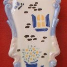SITTRE CERAMIC PRODUCTS INC HAND PAINTED WALL POCKET VASE 1982~7 in.