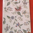 FLORAL CUTTING BOARD CHEESE TRAY TRIVET~ANDREA BY SADEK~JAPAN~PRETTY