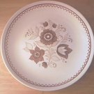 ROYAL CHINA JEANNETTE NUTMEG CHOP OR CAKE PLATE ~11.5 IN
