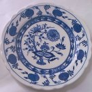 STERLING VITRIFIED CHINA BLUE ONION FLOW BLUE DINNER PLATE~RESTAURANT~BLUE AND WHITE