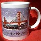 SAN FRANCISCO CALIFORNIA SOUVENIR MUG ~CABLE CAR ~GOLDEN GATE BRIDGE
