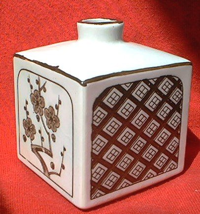 O M C Otagiri Square Bud Vase Japanblossoms