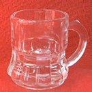VINTAGE CLEAR GLASS MUG SHOT GLASS ~ 2 IN LITTLE MUG