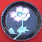 VINTAGE HAND PAINTED SAUCER WITH LG POPPY OR ROSE ~GOLD TRIM~JAPAN