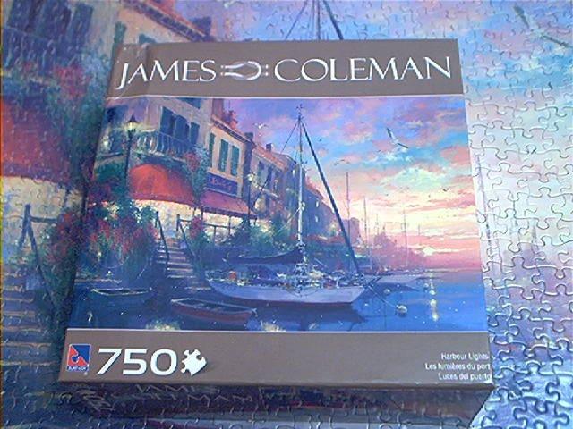 SURE-LOX JAMES COLEMAN JIGSAW PUZZLE ~HARBOUR LIGHTS~COMPLETE