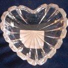 MIKASA GLASS ROMANTIC HEART SHAPE TRINKET DISH ~LOVELY
