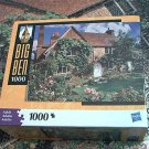 M BRADLEY BIG BEN JIGSAW PUZZLE ~CHALFONT ST GILES  ENGLAND~1000 COMPLETE~COTTAGE