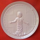 FRANKOMA POTTERY 1970 KING OF KINGS PLATE ~BABY JESUS~JOHN FRANK INCISED SIGNATURE