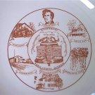 PIERCE COUNTY GEORGIA BICENTENNIAL COMMEMORATIVE PLATE ~1976~GOLD TRIM~10.5 in