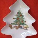 SHIBATA FINE PORCELAIN CHRISTMAS TREE DISH ~JAPAN~8.5 IN~PRETTY