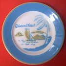 JACKSON CHINA AIR BRUSHED DIAMOND HEAD BREAD PLATE~HAWAII~RESTAURANT~AZURE/GREEN