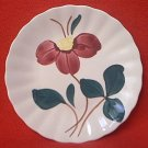 BLUE RIDGE POTTERY BREAD PLATE ~SYMPHONY ~RED FLOWER~6 IN~HAND PTD