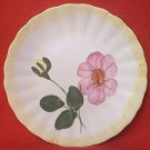 BLUE RIDGE POTTERY BREAD PLATE ~WRINKLED ROSE ~PINK FLOWER~6 IN~HAND PTD