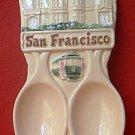 SAN FRANCISCO SOUVENIR DOUBLE SPOON REST ~CABLE CAR