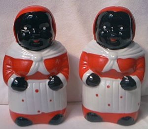 mammy salt and pepper shakers 5 in1990s reprocute for