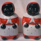 MAMMY SALT AND PEPPER SHAKERS ~5 IN~1990s REPRO~CUTE FOR KITCHEN~MINT