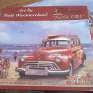 SURFIN USA ~HERITAGE JIGSAW PUZZLE~SCOTT WESTMORELAND~WOODY~FLAG~SURFER~COMPLETE