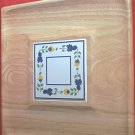 DANSK WOODEN TRAY CHEESE BOARD PARTY SERVER WITH TILE INSET~DANISH MODERN~15 in