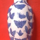 BLUE AND WHITE VASE SHAPED WALL POCKET ~NEW~UNUSED~CHINA~PRETTY BUTTERFLIES