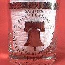 1976 BICENTENNIAL WASHINGTON DC SOUVENIR SHOT GLASS ~LIBERTY BELL~GOLD