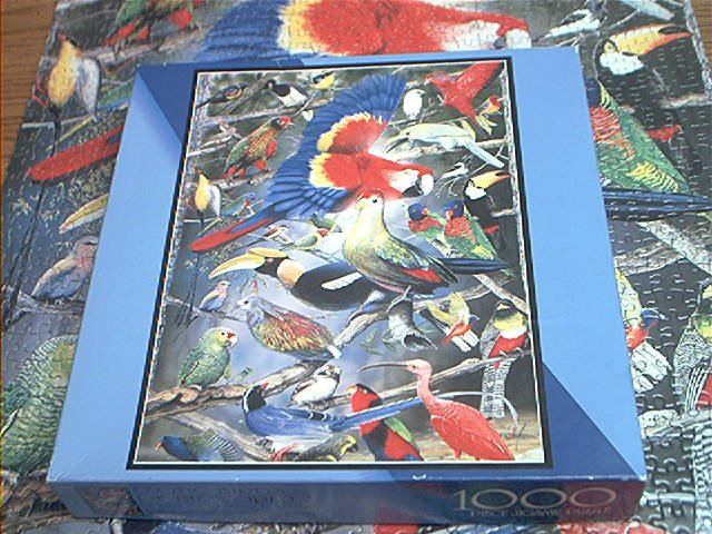 BITS AND PIECES 1000 JIGSAW PUZZLE~EXOTIC BIRDS OF THE WORLD~PETER GERBERT~COMPLETE~MACAW