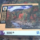 M BRADLEY BIG BEN JIGSAW PUZZLE ~AUTUMN LEAVES~COMPLETE~MOUNTAIN STREAM
