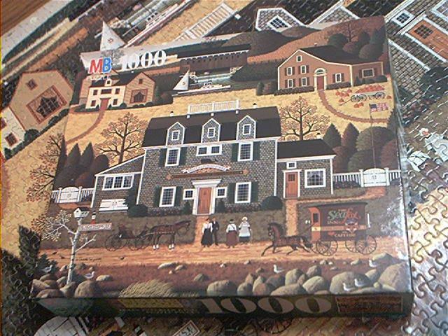 M BRADLEY 1000 PC JIGSAW PUZZLE ~C. WYSOCKI~MOONMEADOW COVE~COMPLETE