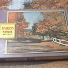 VINTAGE FAIRCO PICTURE JIGSAW PUZZLE~AUTUMN BECKONS~350 PC~COMPLETE~FALL LEAVES