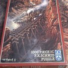 SCHMID 1000 PC JIGSAW PUZZLE ~TED BLAYLOCK~BLACK CANYON EXPRESS~COMPLETE~TRAIN