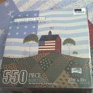 WARREN KIMBLE 550 PC JIGSAW PUZZLE ~THE AMERICAN FARM~FLAG~COMPLETE