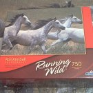MEGA 750 PC JIGSAW PUZZLE~RUNNING WILD~RON KIMBALL~HORSES~COMPLETE~WIND THROUGH THE WITHERS