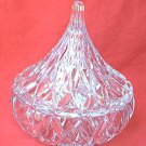 HERSHEYS KISS SHAPED CUT CRYSTAL CANDY DISH ~1994-EXCELLENT CONDITION