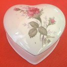 VINTAGE MOSS ROSS HEART SHAPE TRINKET BOX ~TAIWAN