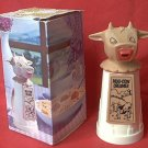 WHIRLEY INDUSTRIES PLASTIC MOO COW CREAMER ~IN ORIGINAL BOX~UNUSED~c 1960S
