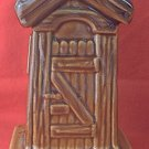 GEORGIA HILLBILLY OUTHOUSE SOUVENIR BANK  ~POTTERY~NEVER USED