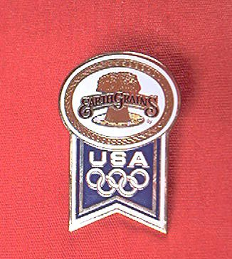 USA OLYMPIC LAPEL PIN ~ 1988 CALGARY~ EARTH GRAINS