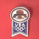 USA OLYMPIC LAPEL PIN ~ 1988 CALGARY~ EARTH GRAINS