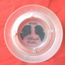 VINTAGE SILHOUETTE VODKA FROSTED GLASS ASHTRAY ~ADVERTISING