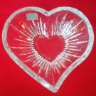 MIKASA HEART SHAPE GLASS CRYSTAL DISH  BOWL~GERMANY~GREAT FOR VALENTINES