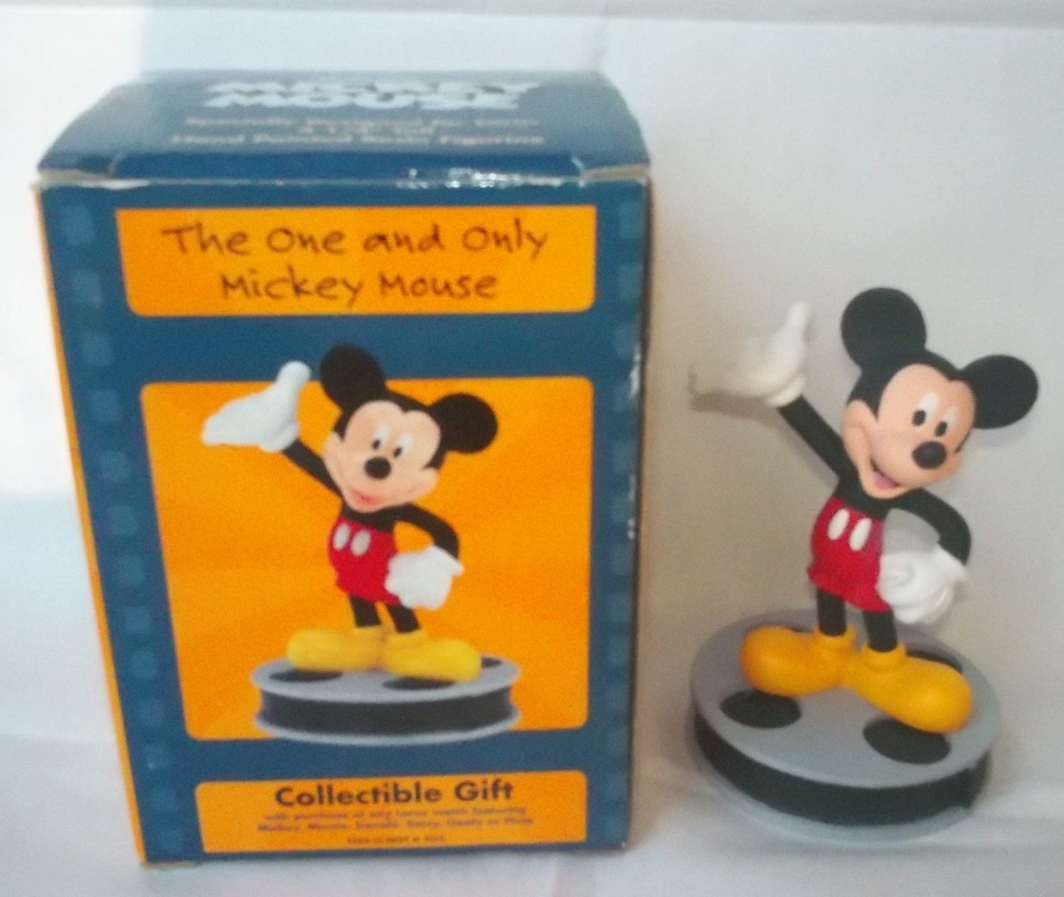 DISNEY MICKEY MOUSE FIGURINE ~APPLAUSE~GIFT W/PURCHASE LORUS WATCHES~1999