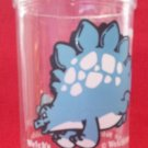 VINTAGE WELCH'S JELLY JAM JUICE COLLECTOR GLASS ~STEGOSAURUS DINOSAUR