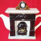 SWINESIDE TEA POTTERY ENGLISH FIREPLACE TEAPOT~SIGNED HARTLEY~1994~UNIQUE