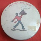 VINTAGE WARRENTON RUM CAKES TIN ~BLACK MAN W/TRAY~BLACK COLLECTIBLE