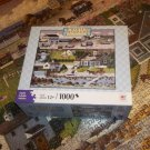 HASBRO 1000 PC JIGSAW PUZZLE ~CHARLES WYSOCKI~CRICKETHAWK HARBOR~COMPLETE