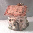 HEATHER GOLDMINC CANDLE TEA LIGHT HOUSE COTTAGE ~2000~LET'S PLAY HOUSE~CATS & MOUSE