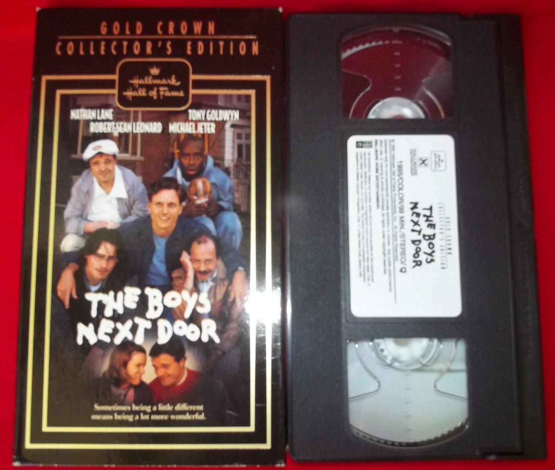 THE BOYS NEXT DOOR~VHS~HALLMARK~NATHAN LANE, TONY GOLDWYN~1996