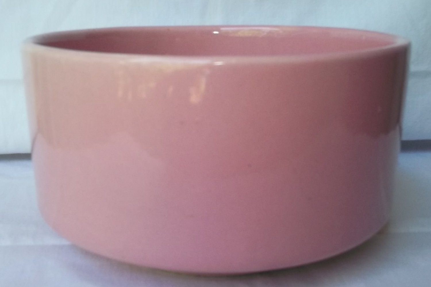 VINTAGE ROUND PINK MID CENTURY BOWL PLANTER ~C P USA MARK~EXCELLENT CONDITION