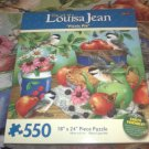 ART OF LOUISA JEAN 550 JIGSAW PUZZLE~PICNIC PIE~APPLES~BIRDS~COMPLETE