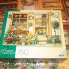 MEGA PUZZLE COLLECTION 750 JIGSAW PUZZLE~JANET KRUSKAMP~FANCY FLOWER SHOP~COMPLETE