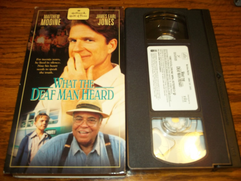 WHAT THE DEAF MAN HEARD~VHS~MATTHEW MODINE, JAMES EARL JONES~HALLMARK GOLD~1998